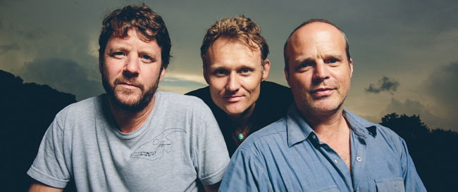L-R: Billy Martin (Drums/Percussion), Chris Wood (Bass), and John Medeski (Keys)
