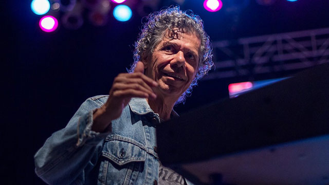 Chick Corea making a surprise appearance at the 2014 Clearwater Jazz Holiday. Photo by David La Rosa.