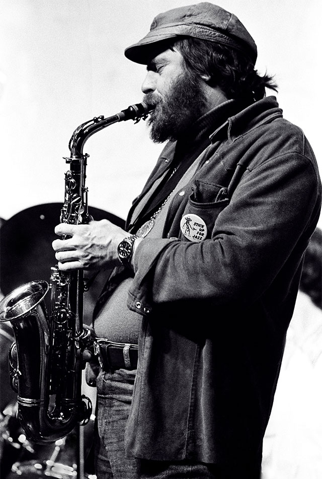 Phil Woods in 1978. Photo by Tom Marcello.